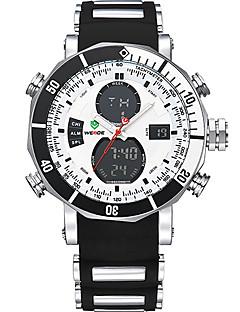 billige Digitalure-WEIDE Herre Digital Kjoleur Sportsur Alarm Kronograf Vandafvisende Dobbelte Tidszoner LCD Silikone Bånd Luksus Sej Sort