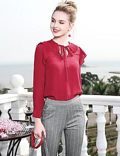 billige Dametopper-Skjorte Dame-Ensfarget,Grunnleggende Forretning