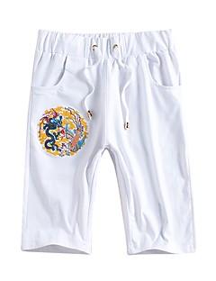 billige Herrebukser og -shorts-Herre Tenåring Chinoiserie Shorts Bukser Broderi