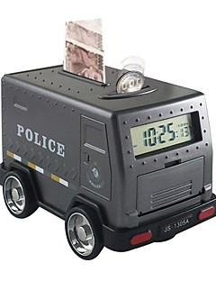 Piggy Bank Money Armored Car Cash Truck Family Alarm Clock Shocking Large Size Pword Lock Plastic Shell Boutique Kid S