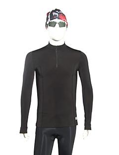 billige Løbetøj-Herre Grundlag - Sort Sport Spandex Kompressionstøj / Toppe Langærmet Sportstøj Vindtæt, Vintersport, Backcountry