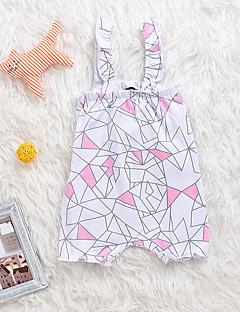 billige Babytøj-Baby Pige En del Daglig Dyretryk, Bomuld Spandex Forår Sommer Uden ærmer Aktiv Hvid