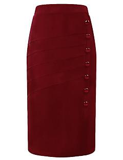 זול חצאיות לנשים-אחיד - חצאיות גזרת A בסיסי בגדי ריקוד נשים