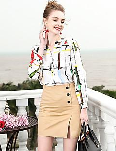 billige Dametopper-Skjorte Dame-Geometrisk,Trykt mønster Forretning