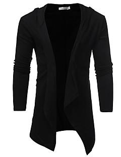 tanie Męskie swetry i swetry rozpinane-Męskie W serek Długi Rozpinany Jednolity kolor Długi rękaw