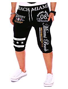 billige Herrebukser og -shorts-Herre Aktiv Shorts Bukser Bokstaver