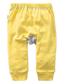 billige Babyunderdele-Baby Unisex Bukser Daglig Ensfarvet, Polyester Forår Uden ærmer Basale Navyblå Gul Rosa