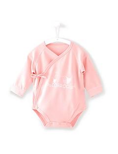 billige Babytøj-Baby Unisex En del Daglig Ferie Trykt mønster, Bomuld Forår Sommer Halvlange ærmer Afslappet Aktiv Blå Lyserød
