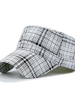 billige Trendy hatter-Unisex Kontor Fritid Beret Solhatt Baseballcaps Rutet Bomull Polyester