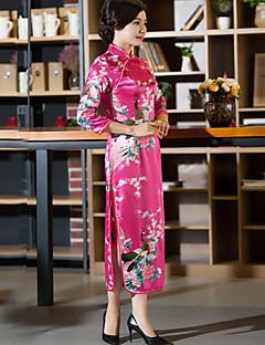 tanie Etniczne & Cultural Kostiumy-Cosplay Sukienka typu A-Line Sukienka ołówkowa Damskie Bal maskowy Festiwal/Święto Kostiumy na Halloween Ink Blue White Blue Pink Red