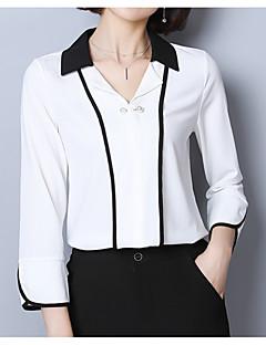 baratos Blusas Femininas-Mulheres Blusa Básico Patchwork,Sólido
