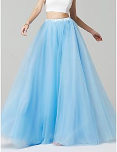 Χαμηλού Κόστους Ξεχωριστά-Γραμμή Α Μακρύ Τούλι Φόρεμα Παρανύμφων με με LAN TING BRIDE®