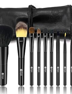 billige Sminkebørstesett-9pcs Makeup børster Profesjonell Børstesett Geitehår børste / røyskatt børste / Syntetisk hår Hestehår Plast