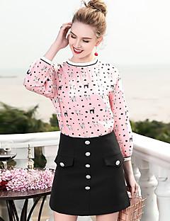 billige Dametopper-Tynn Skjorte Dame - Geometrisk, Trykt mønster Arbeid