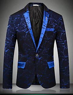 お買い得  メンズブレザー&スーツ-男性用 クラブ ブレザー プリント フラワープリント