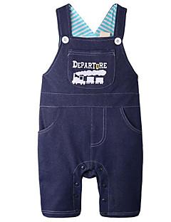 billige Babytøj-Baby Unisex En del Daglig Geometrisk, Polyester Forår Uden ærmer Simple Blå