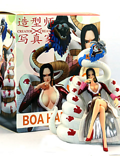 billige Anime cosplay-Anime Action Figurer Inspirert av One Piece Boa Hancock PVC 16 CM Modell Leker Dukke