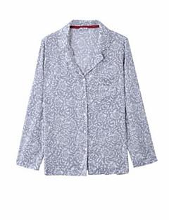 billige Moteundertøy-Dame Dress Pyjamas - Blomstret, Blonde