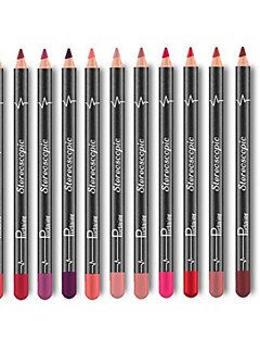 cheap Makeup For Lips-Lip Liners Dry Coloured gloss Coverage Long Lasting Natural 12 Portable