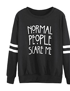 cheap Graphic Sweatshirts-Men's Long Sleeve Sweatshirt - Solid Colored Round Neck Black L / Spring