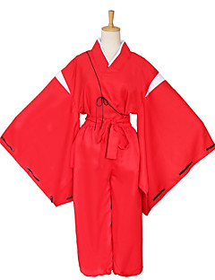 cheap Anime Costumes-Inspired by InuYasha Other Anime Cosplay Costumes Cosplay Suits Cosplay Tops/Bottoms Solid Long Sleeves 1 Pair of Cufflinks Coat Pants