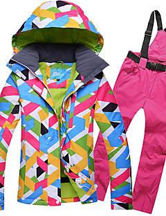 preiswerte Ski & Snowboards-GQY® Damen Skijacken & Hosen Wasserdicht warm halten Windundurchlässig tragbar Skifahren Winter Sport Polyester