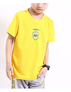 tanie Odzież dla chłopców-Dla chłopców Sport Geometryczny T-shirt, Poliester Lato Krótki rękaw Aktywny Niebieski Czerwony Yellow