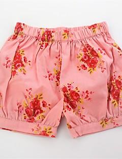 billige Bukser og leggings til piger-Pige Shorts Daglig Blomstret, Bomuld Sommer Sødt Aktiv Blå Orange