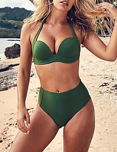 billige Bikinier og damemote 2017-Dame Bikinikjole - Grunnleggende Helfarge