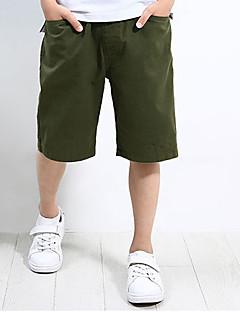 billige Drengebukser-Drenge Shorts Daglig Ensfarvet, Polyester Sommer Simple Grøn Navyblå Lyseblå Kakifarvet