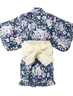 tanie Odzież dla dziewczynek-Dla dziewczynek Impreza Jendolity kolor Komplet odzieży, Bawełna Poliester Lato Rękaw 3/4 Urocza Light Blue Jasnoniebieski