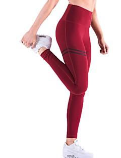 billiga Träning-, jogging- och yogakläder-Dam Yoga byxor - Svart, Röd, Blå sporter Mode Hög midja Byxa Motion & Fitness Sportkläder Tränare, Yoga, Torkar snabbt Microelastisk