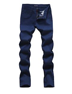 billige Herrebukser og -shorts-Herre Bomull Tynn Chinos Bukser - Trykt mønster, Ensfarget