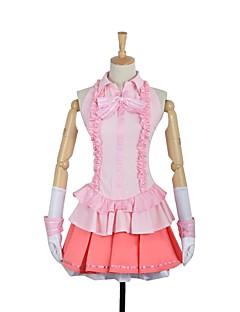 """billige Anime Kostymer-Inspirert av Sword Art Online Asuna Yuuki Cosplay Anime  """"Cosplay-kostymer"""" Cosplay Klær Annen Ermeløs Halsklut Topp Skjørte Hansker Mer"""