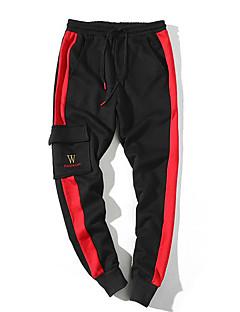 billige Herrebukser og -shorts-Herre Aktiv Skinny Bukser Stripet