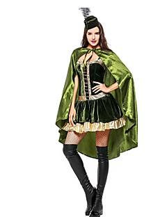 baratos Trajes da Noite das Bruxas-Super-Heróis Princesa Vestidos Fantasias de Cosplay Dia Das Bruxas Carnaval Ano Novo Festival / Celebração Trajes da Noite das Bruxas Roupa Verde Estampa Colorida Outro Animal