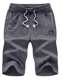 billige Herremote og klær-Herre Enkel Shorts Bukser Ensfarget