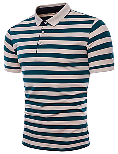 cheap Men's Polos-Men's Cute Active Polo - Color Block Jacquard