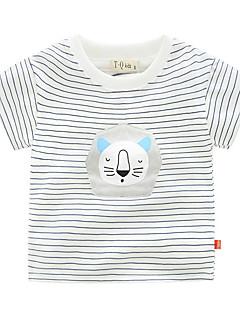 billige Overdele til drenge-Drenge Daglig Ferie Stribet T-shirt, Bomuld Sommer Kortærmet Sødt Grøn Rød Navyblå Gul