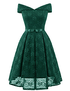 cheap Women's Dresses-Women's Vintage Swing Dress - Solid Colored