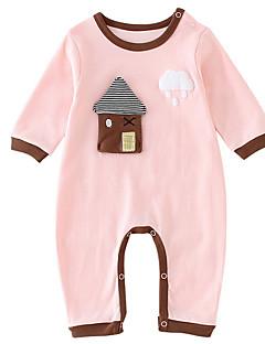 billige Babytøj-Baby Unisex Prikker Halvlange ærmer En del