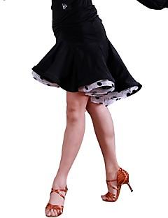 baratos Roupas de Dança Latina-Dança Latina Tutos e Saias Mulheres Treino Organza Seda Sintética Franzido Natural Saias