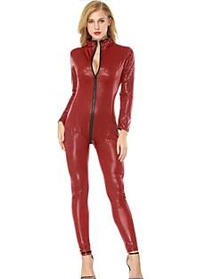 billige Zentai-Cosplay Kostumer Zentai Cosplay-kostymer Svart Rød Polkadotter Spandex Jul Halloween Karneval Maskerade