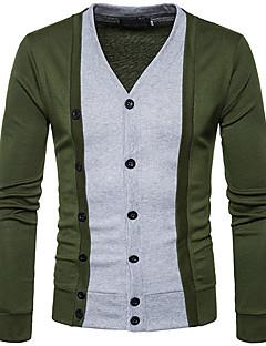 tanie Męskie swetry i swetry rozpinane-Męskie Podstawowy Rozpinany Wielokolorowa