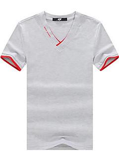 billige Store størrelser-Herre-V-hals T-skjorte Herre - Ensfarget Gatemote / Kortermet
