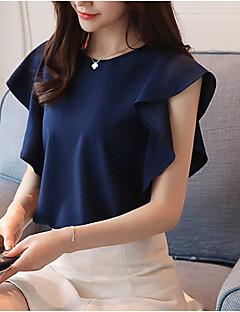 billige Overdele til damer-Dame - Ensfarvet Sødt Bluse
