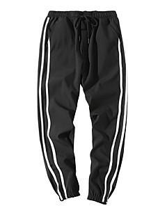 billige Herrebukser og -shorts-Herre Enkel Chinos Bukser Stripet