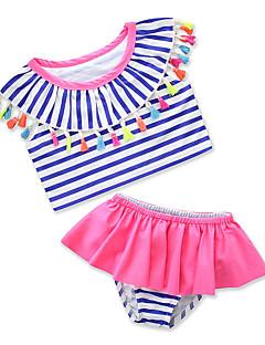 billige Badetøj til piger-Børn Baby Pige Stribet Trykt mønster Uden ærmer Badetøj