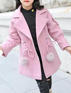 tanie Odzież dla dziewczynek-Kurtka / płaszcz Dla dziewczynek Jendolity kolor Czerwony Blushing Pink