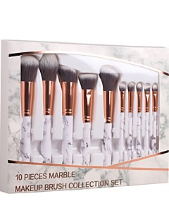 povoljno -10-Pack Četke za šminku profesionalac Četka Setovi / Kist za rumenilo / Kist za sjenilo Nylon Brush / Synthetic Hair Eco-friendly /